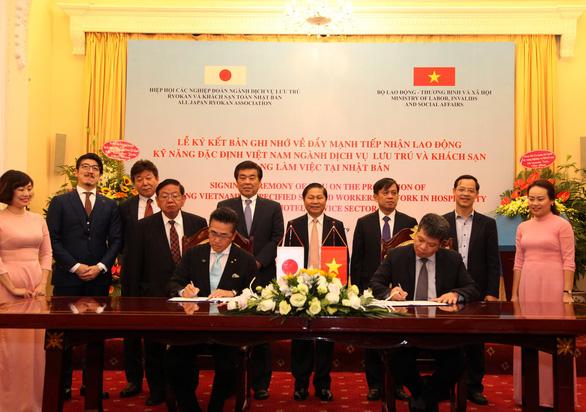 Thỏa thuận cho người lao động Việt Nam tìm việc làm tại Nhật được ký kết