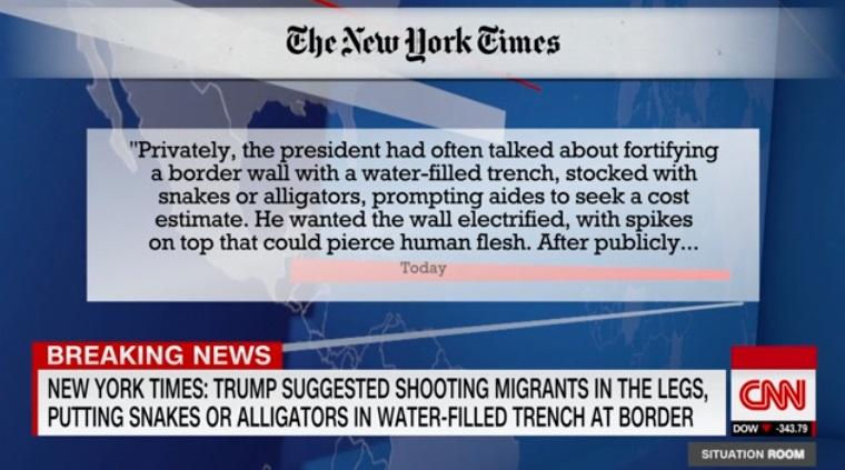 Tổng thống Trump muốn củng cố biên giới bằng cách bắn vào chân người di dân và xây hào chứa đầy rắn