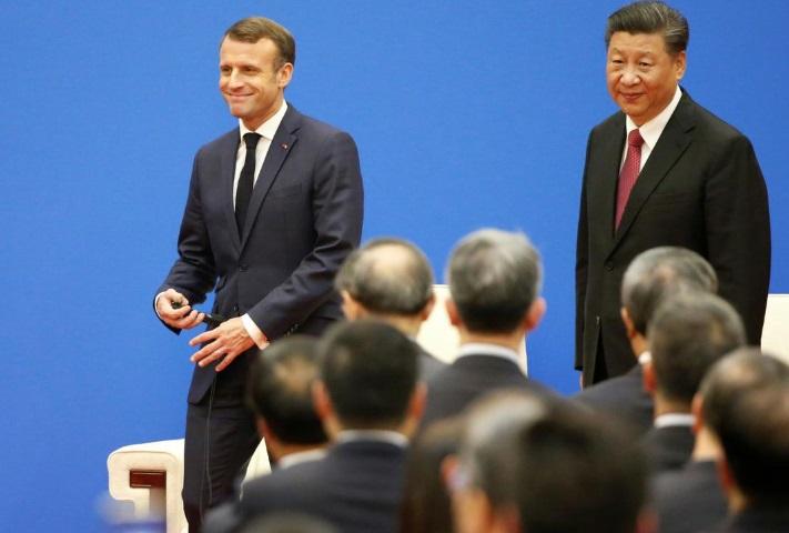 Trung Cộng và Pháp ký thỏa thuận 15 tỷ mỹ kim trong chuyến thăm của tổng thống Macron