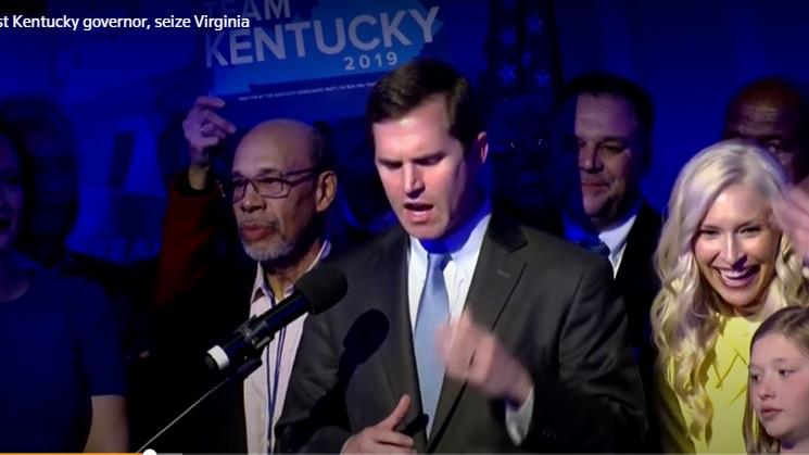 Đảng Dân Chủ thắng ghế thống đốc  Kentucky, giành được lưỡng viện quốc hội Virginia