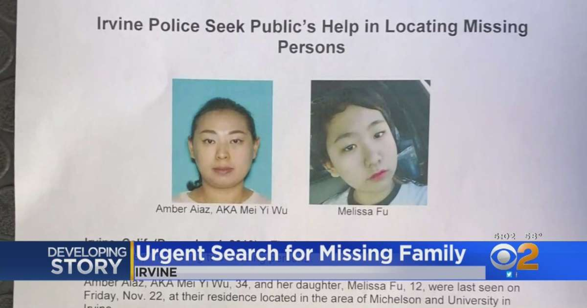 Hai người mất tích tại thành phố Irvine