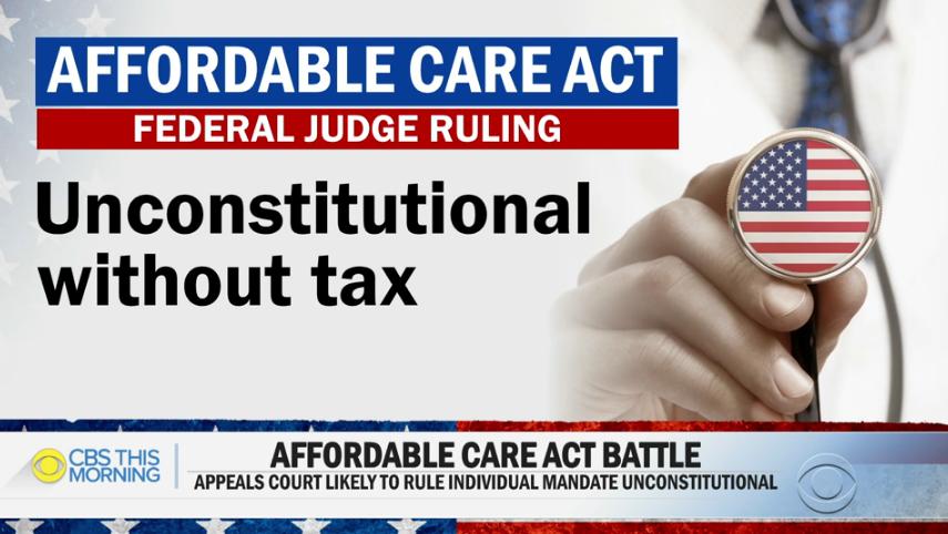 Tòa án tuyên bố luật bắt buộc người dân phải mua bảo hiểm cá nhân của Obamacare là vi hiến