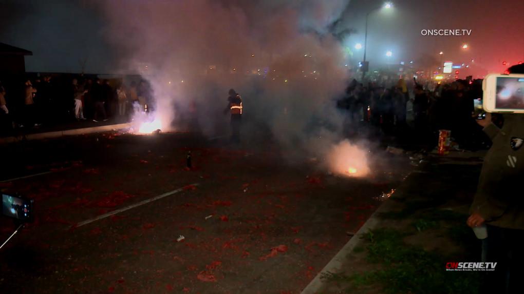 Pháo hoa thương mại bắn vào một đám đôngmừngTết Nguyên Đán khiến 8 người nhập Viện