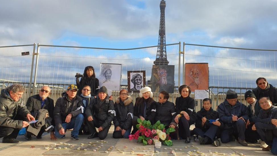 25 nhà hoạt động xã hội ở Paris tưởng niệm nạn nhân Đồng Tâm