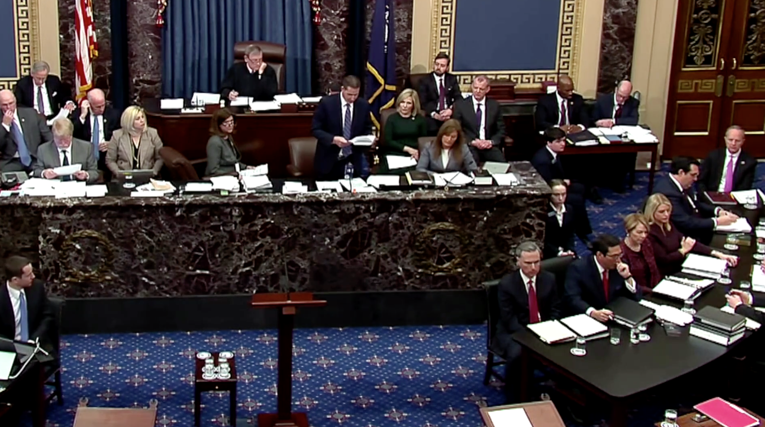 Thượng Viện ngăn chận việc công bố bằng chứng và triệu tập nhân chứng trong phiên tòa luận tội Tổng thống Trump
