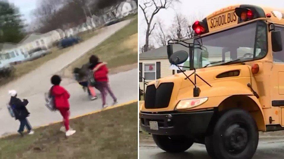 Bênh conmột phụ huynh rút súng trên xe buýt trường họcgiữa lúccác nữ sinh đánh nhau