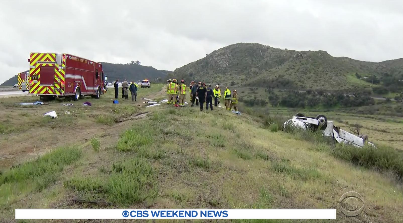 Lật xe bus ở tiểu bang California, 3 người thiệt mạng, 18 người bị thương