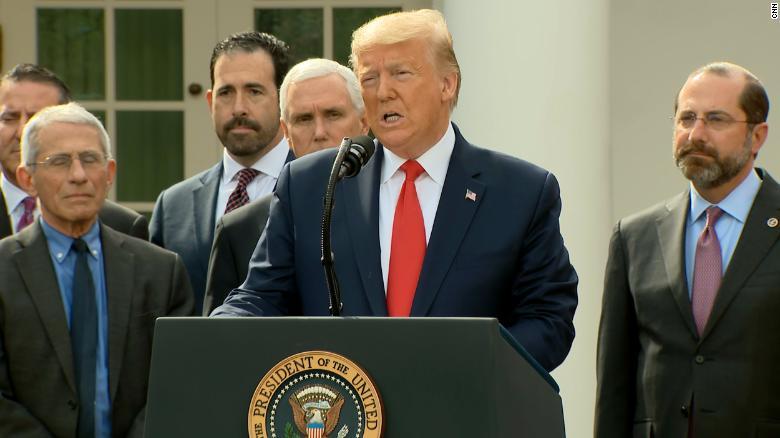 Tổng thống Trump tuyên bố tình trạng khẩn cấp toàn quốc vì coronavirus