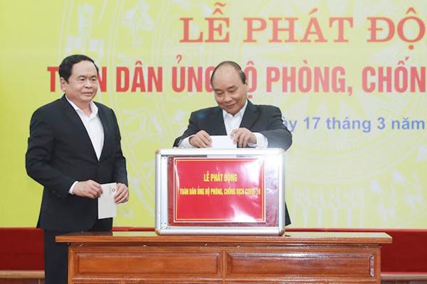 Thủ tướng CSVN Nguyễn Xuân Phúc kêu gọi người dân có cái gì thì góp cái đó cho chính phủ