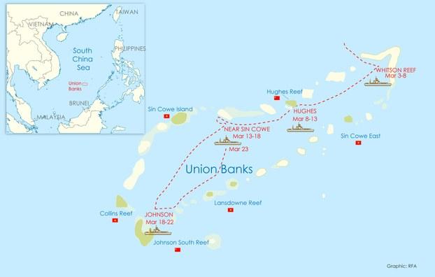Trung Cộng đưa dân quân biển ra chiếm giữ nhiều đảo ở Trường Sa