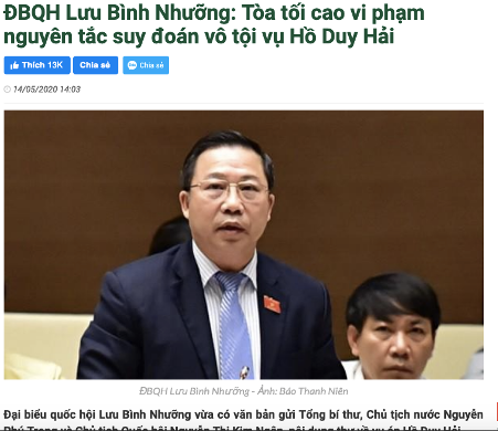 3 đại biểu quốc hội kiến nghị xem xét lại vụ án Hồ Duy Hải