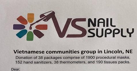 Cộng đồng người Việt quyên góp vật tư cho bệnh viện Bryan Health