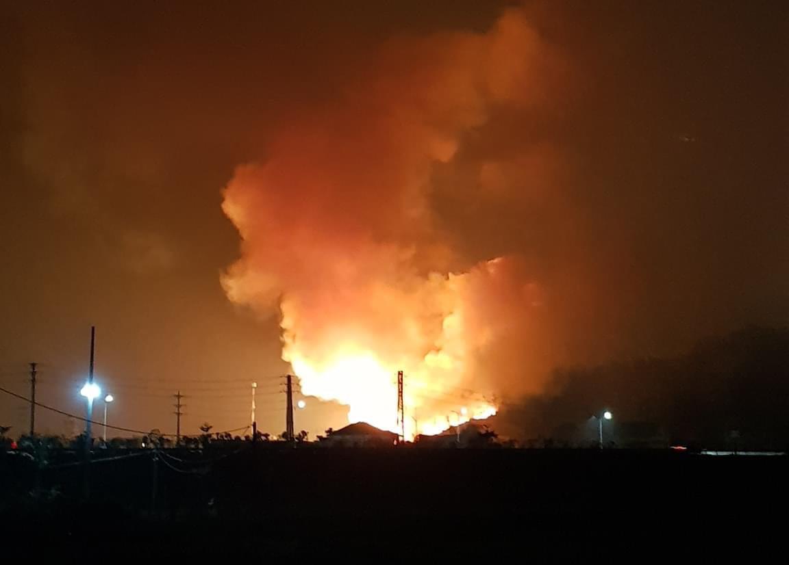 Kho đạn của quân đội cộng sản ở tỉnh phía Bắc bị bốc cháy