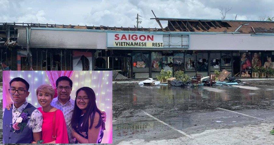 Hỏa hoạn thiêu hủy một nhà hàng Việt Nam tại thành phố Tampa trong đêm biểu tình