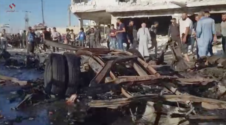 5 người chết, 85 người bị thương trong vụ đánh bom xe ở vùng Azaz ở Syria