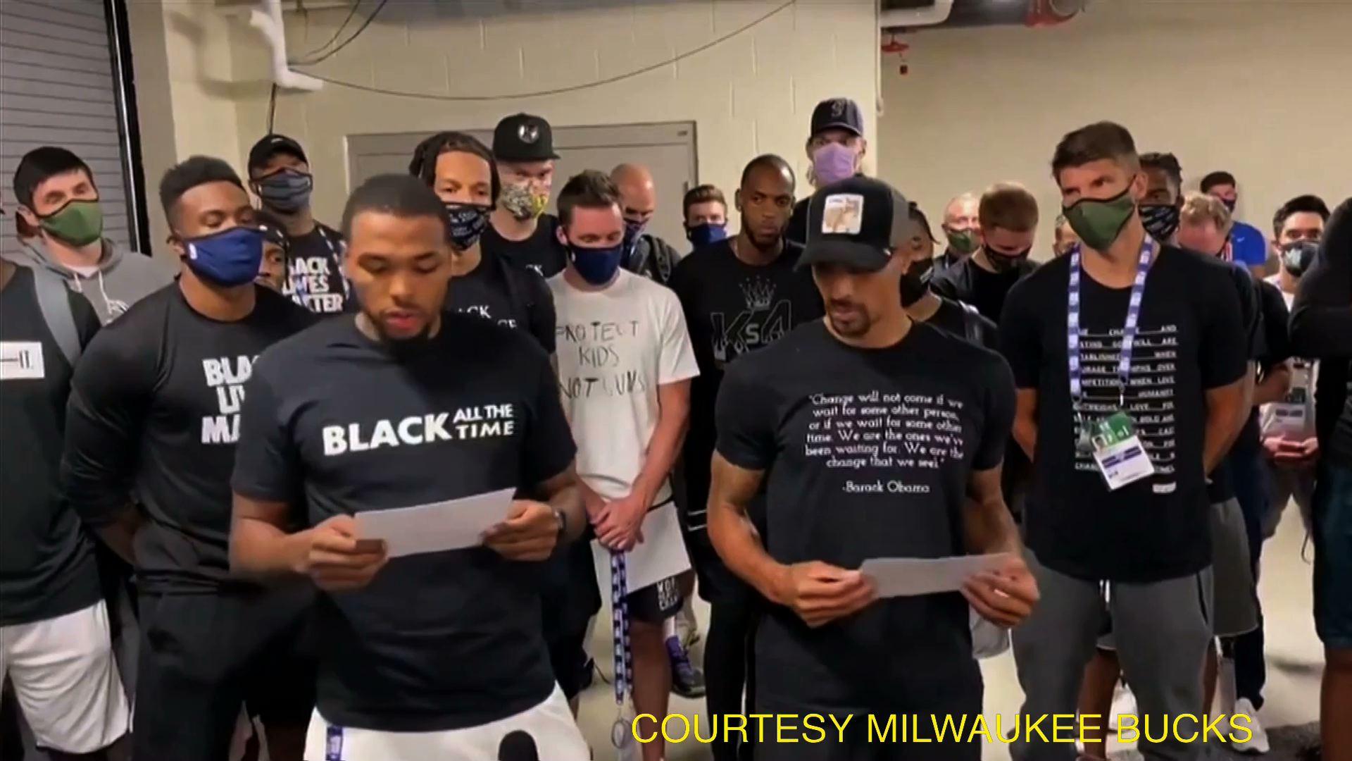 NBA hoãn nhiều trận đấu sau khi đội Milwaukee Bucks phản đối vụ cảnh sát bắn một người da đen tại Wisconsin