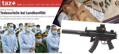 BáoĐức đặt câu hỏi về súng mp5 được công an CSVN sử dụng để giết người trong vụ Đồng Tâm