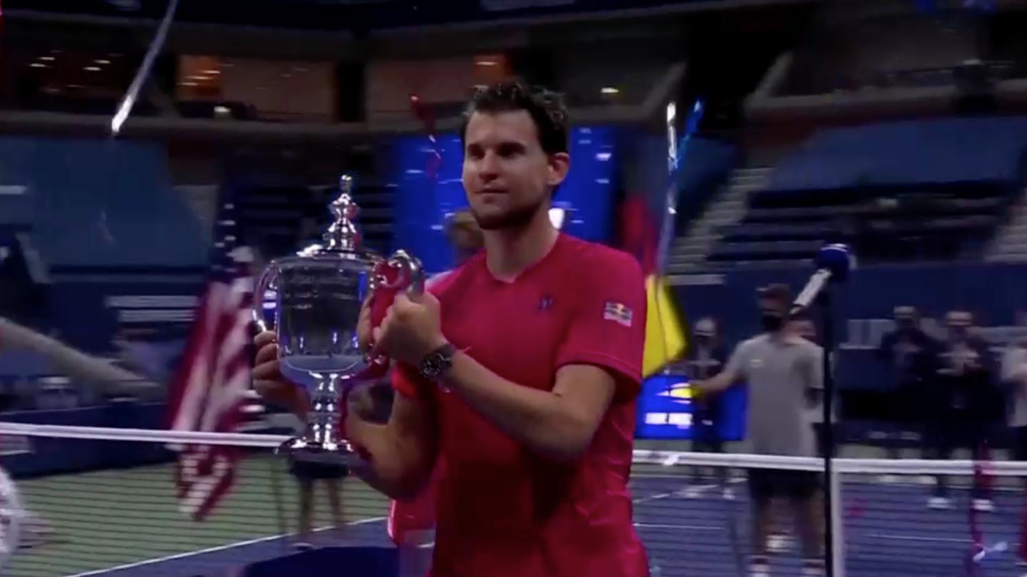 Tay vợt người Áo Dominic Thiem giành chức vô địch giải US Open sau màn lội ngược dòng nghẹt thở