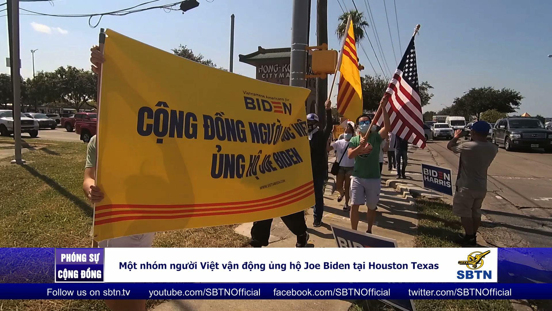 Cử tri châu Á hướng về ông Joe Biden trong một cuộc tuần hành tại khu vực Tây Nam Houston