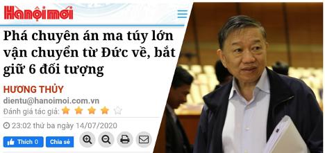 Côngty của em rể Bộ trưởng Công an CSVN vận chuyển ma tuý từ Berlin về Hà Nội