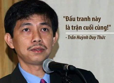 Tù nhân lương tâm Trần Huỳnh Duy Thức tuyệt thực, đòi được trả tự do