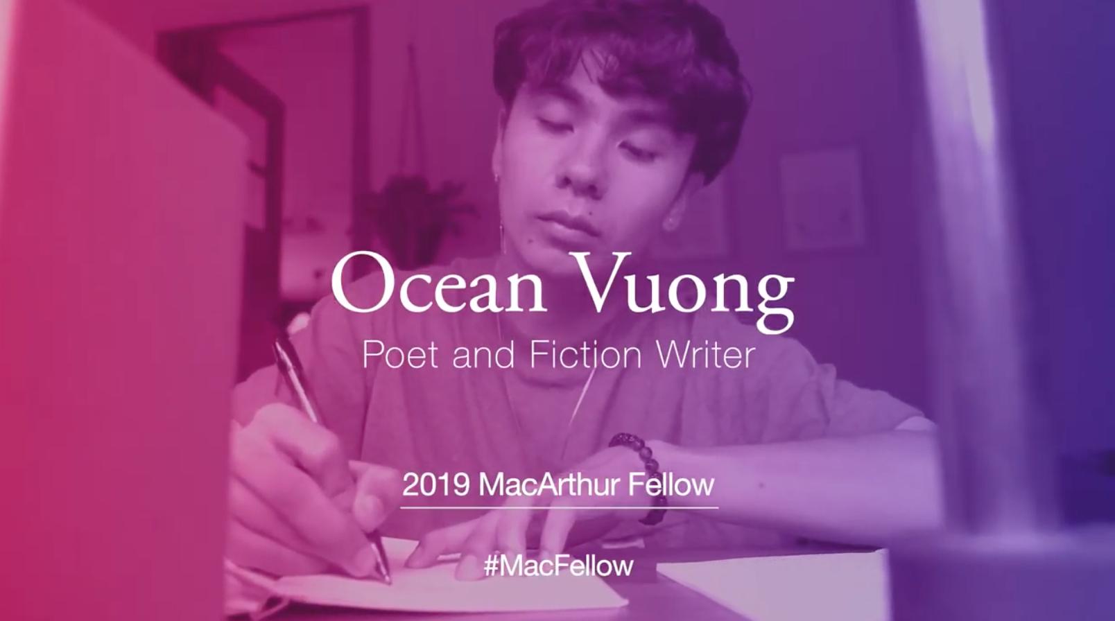 Anh Ocean Vương đạt giải thưởng Văn học Mark Twain American Voice