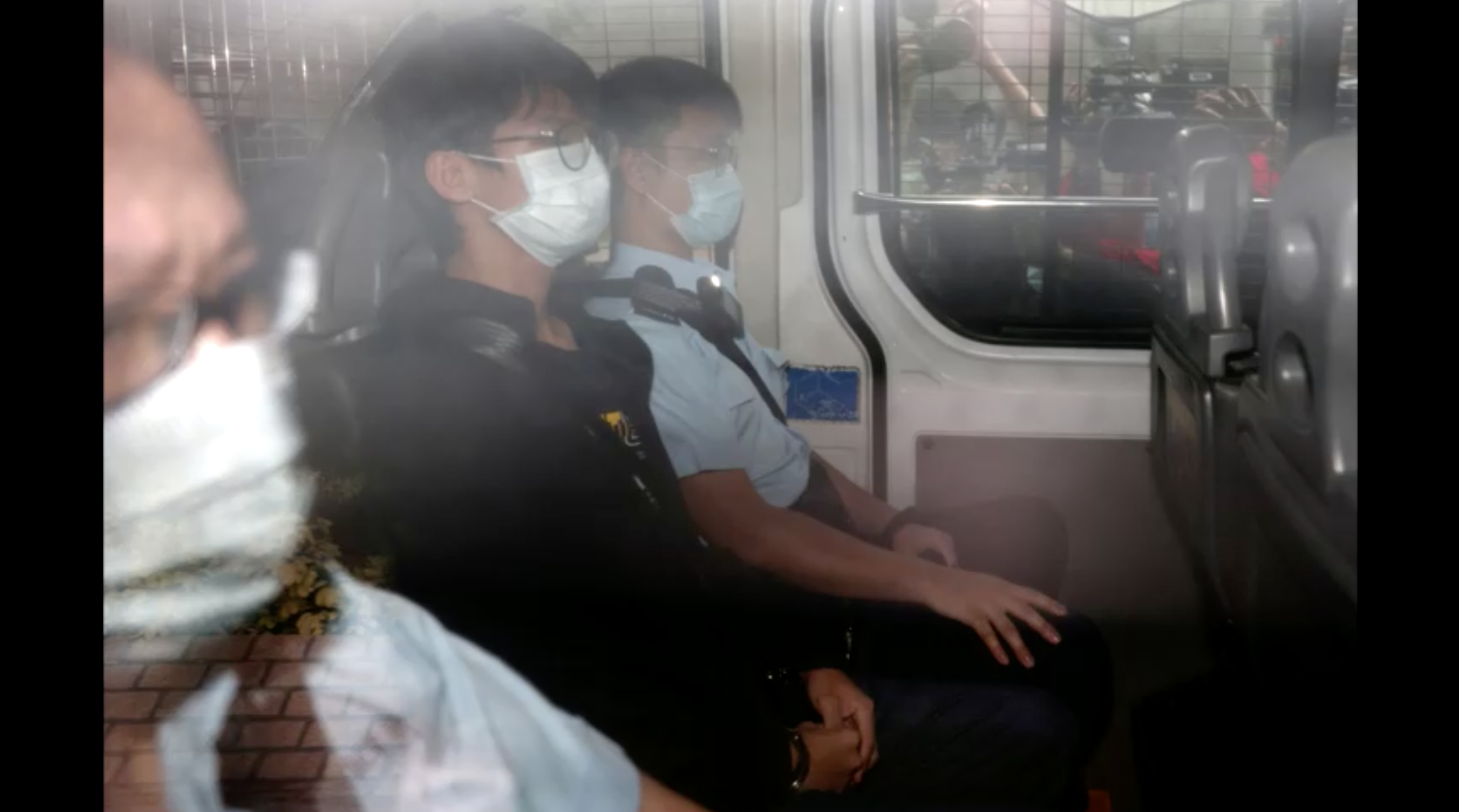 Nhà hoạt động Tony Chung ra tòa ở Hồng Kông sau khi bị bắt giữ gần Tòa Lãnh Sự Hoa Kỳ