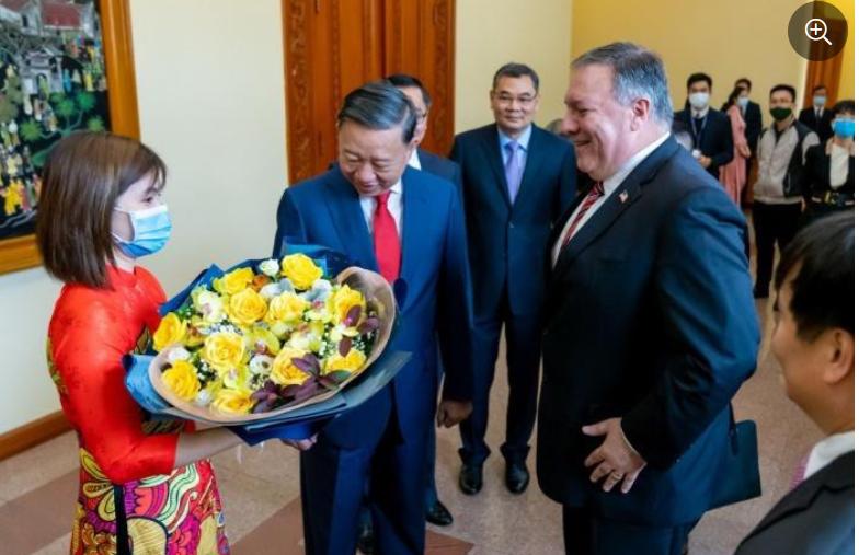Ngoại trưởng Pompeo gặp bộ trưởng công an CSVN Tô Lâm