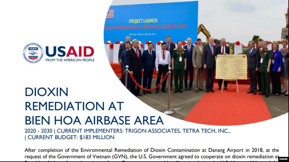 Hoa Kỳhỗ trợ thêm 20 triệu Mỹ kimlàm sạchô nhiễm dioxin ở phi trường Biên Hoà