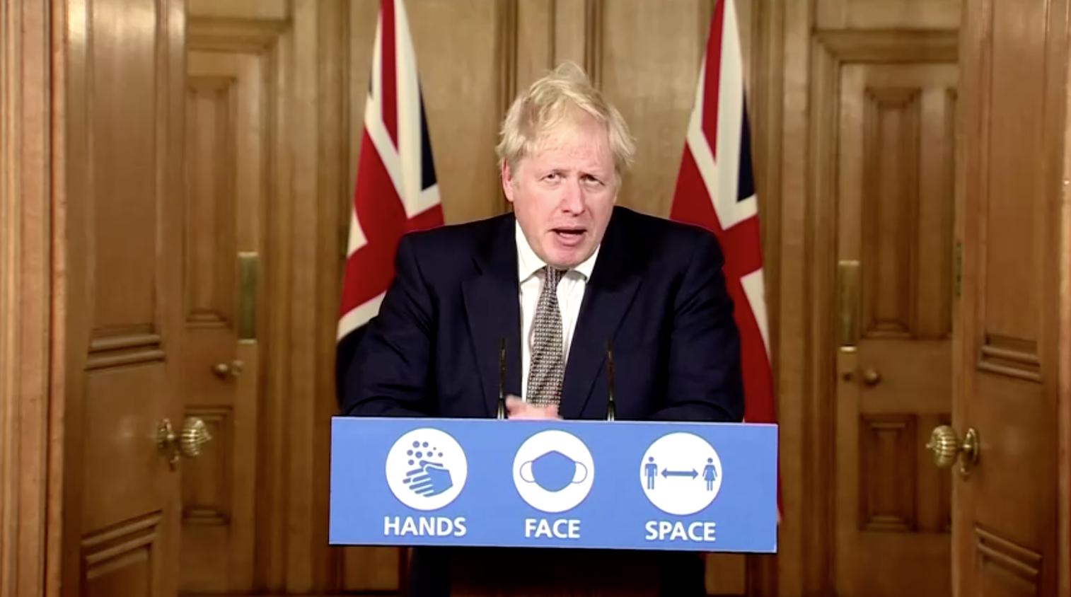 Thủ Tướng Boris Johnson phong tỏa Anh Quốc khi số ca nhiễm COVID-19 toàn quốc vượt qua 1 triệu