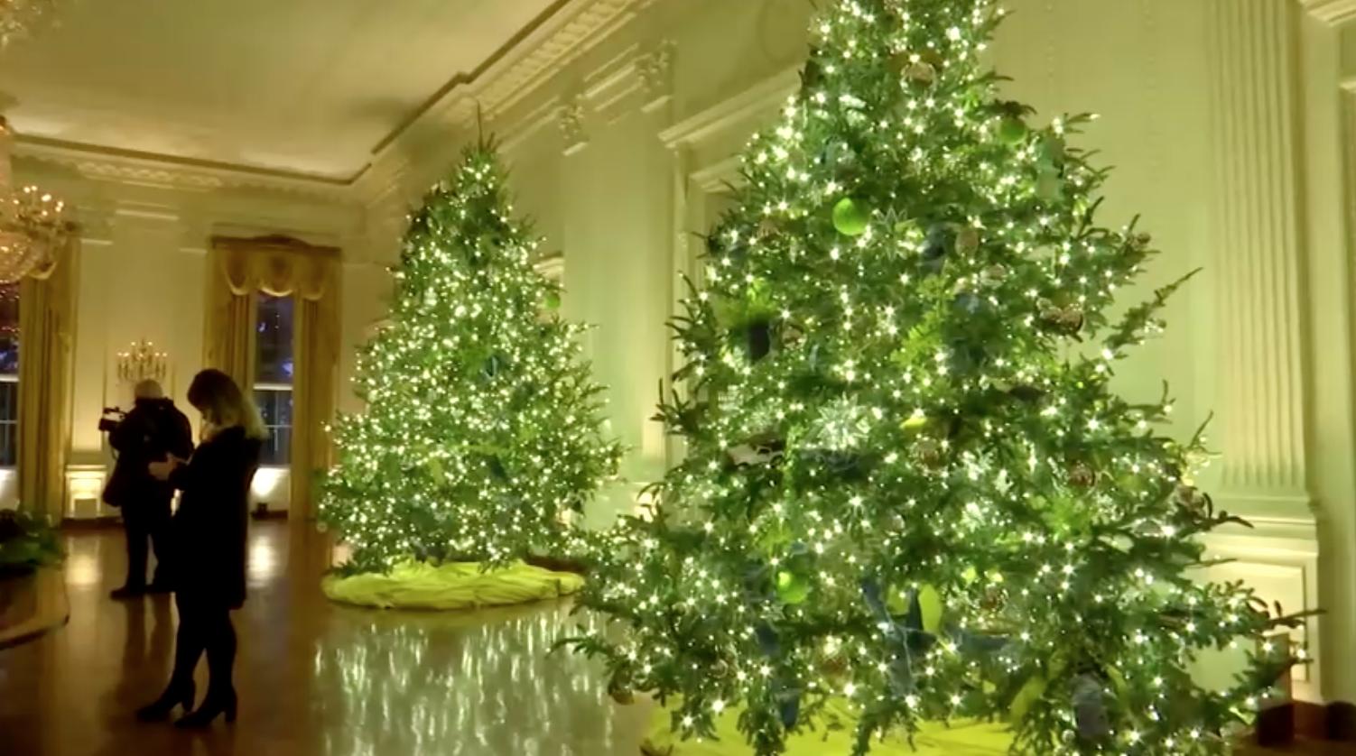 Đệ Nhất Phu NhânMelania Trump tiết lộkhung cảnhGiáng Sinh cho mùa lễ cuối cùng ở Tòa Bạch Ốc