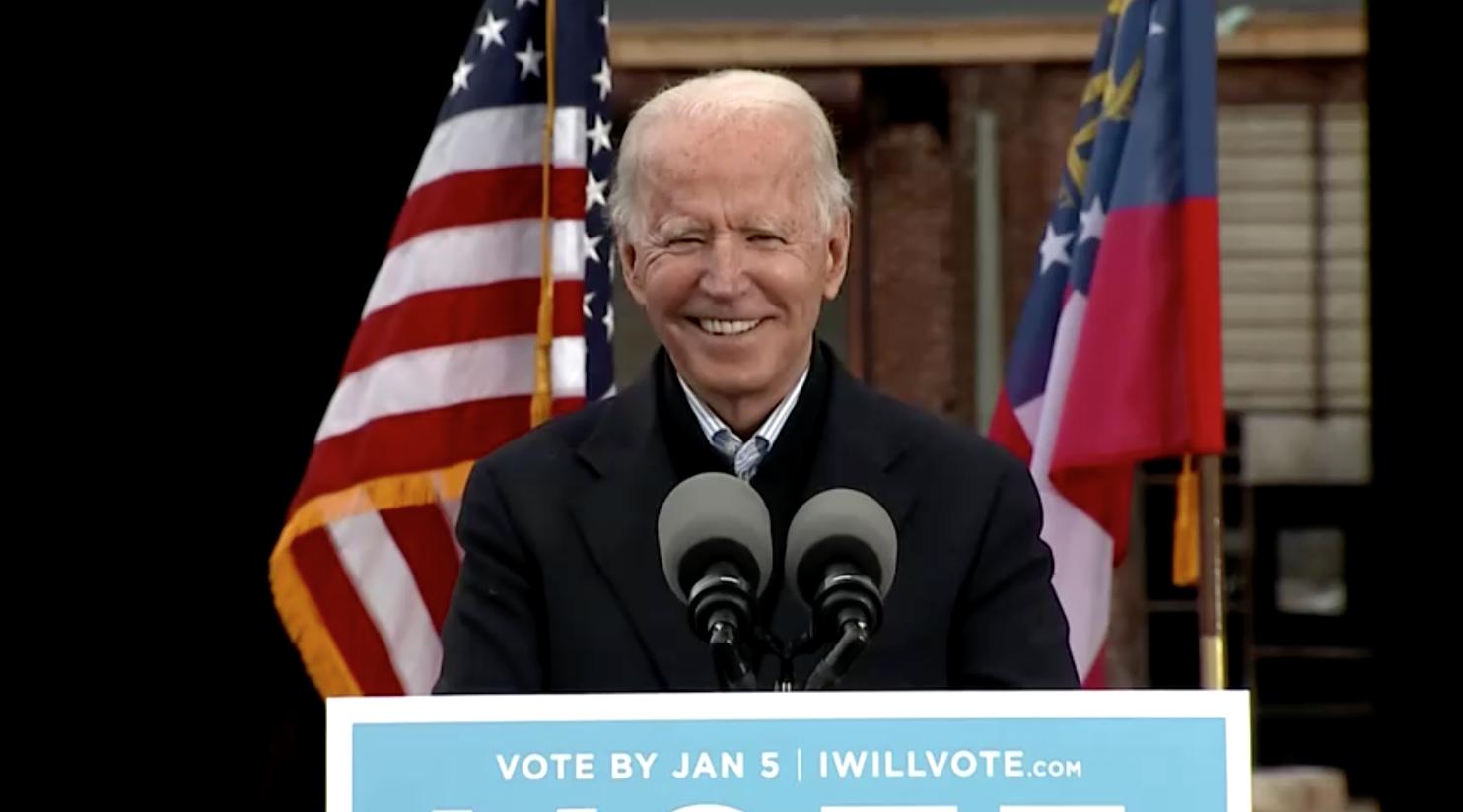 Joe Biden vận động tranh cử tại Georgia sau khi các đảng viên Cộng Hòa hàng đầu thừa nhận chiến thắng của ông trong cuộc bầu cử