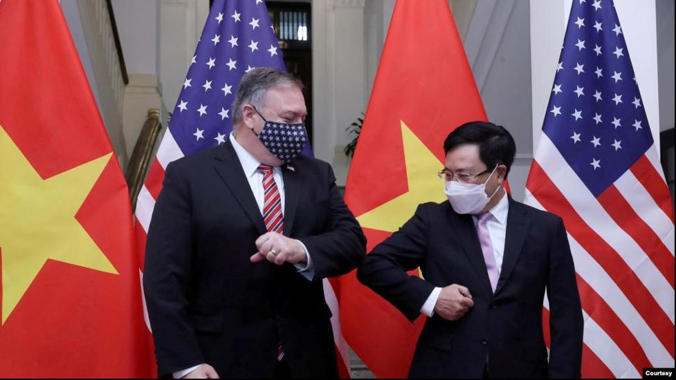 """Ngoạitrưởng Hoa Kỳ và CSVN trao đổi về """"thao túng tiền tệ"""""""
