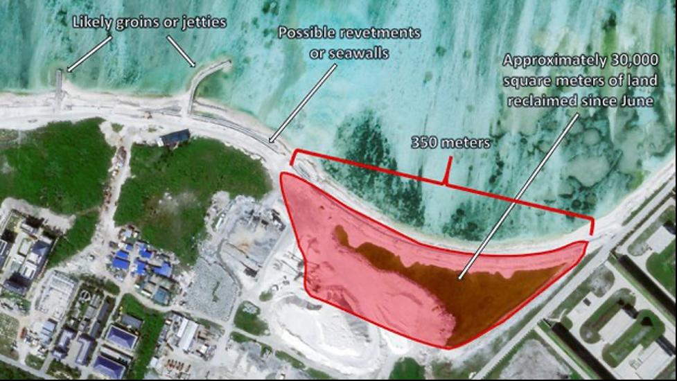 Trung Cộng cải tạo, củng bốbờ căn cứ đảo Phú Lâm ở Hoàng Sa