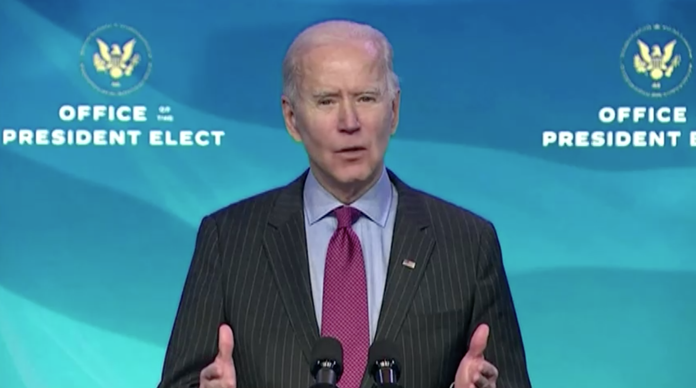 Ông Biden sẽ tiết lộ gói cứu trợ kinhtế trị giá hàng nghìn tỷ mỹ kim vào tuần tới