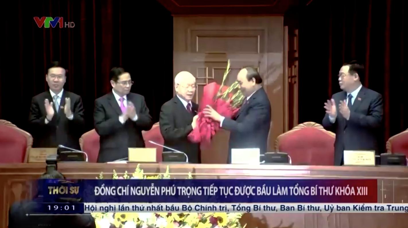 Nguyễn Phú Trọng tiếp tục làm Tổng bí thư đảng Cộng sản khoá 13