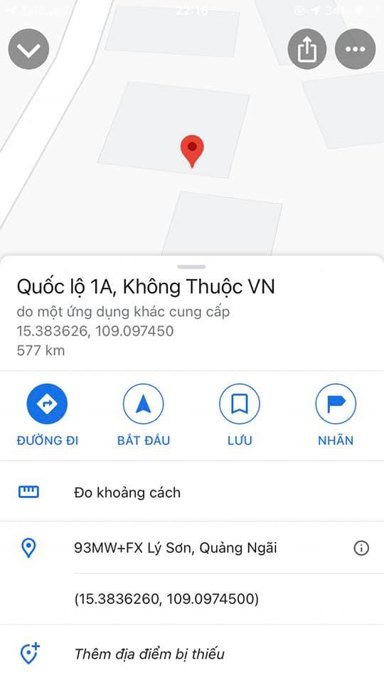 Xuất hiện ứng dụng viết rằng quốc lộ 1A không phải của Việt Nam