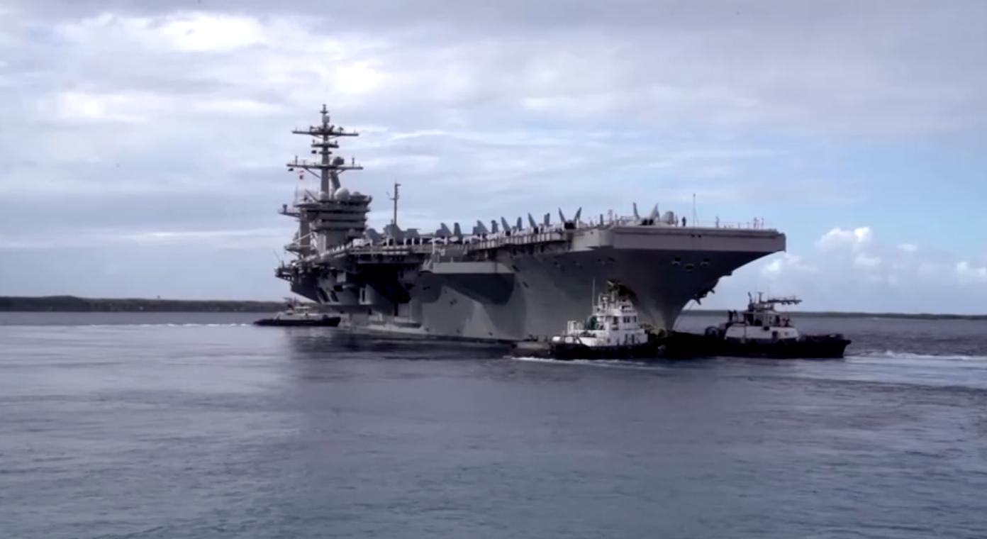Hai nhóm hàng không mẫu hạm Hoa Kỳ tập trận tại biển Đông