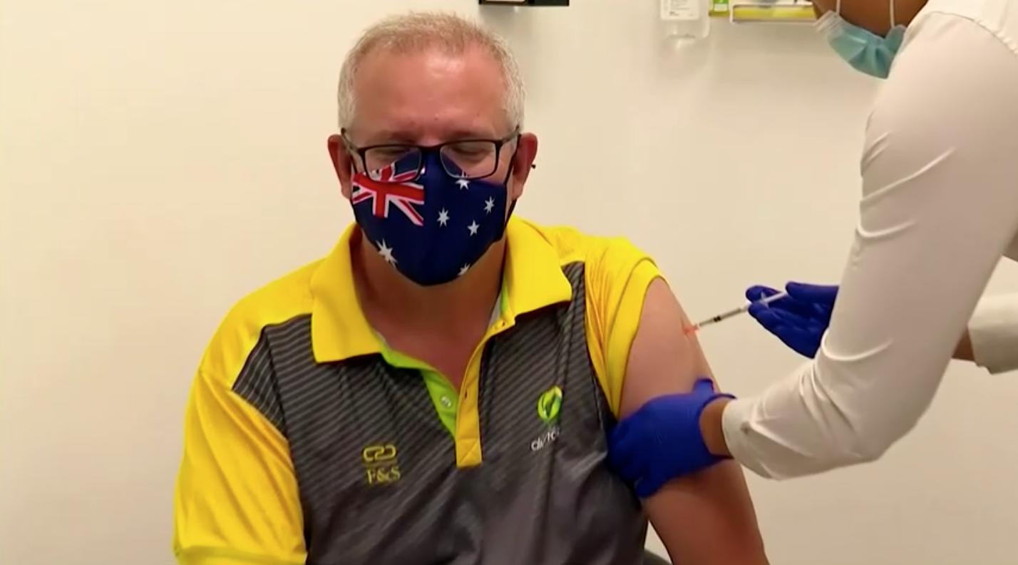 Thủ TướngScott Morrisontiêm vaccine, khởi động chương trình tiêm chủng ở Úc