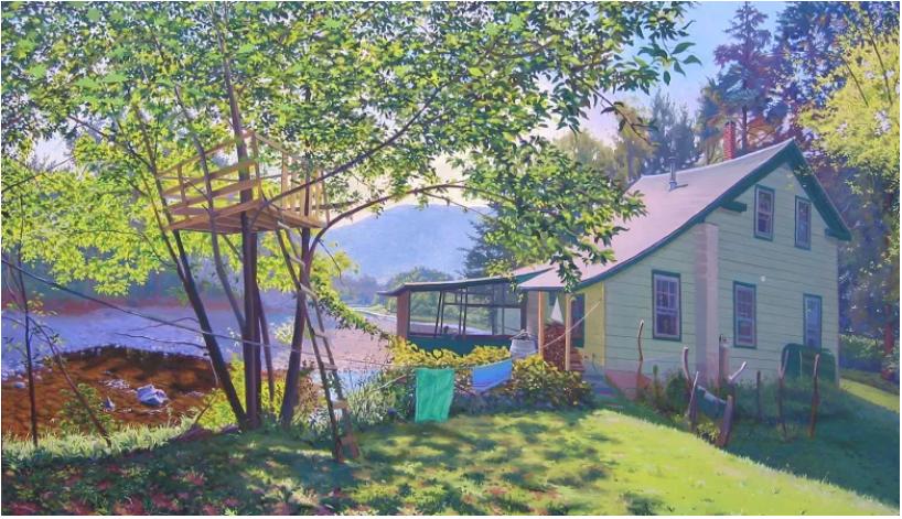 Buổi triễn lãm tranh của một họa sĩ phong cảnh người Mỹ gốc Việt