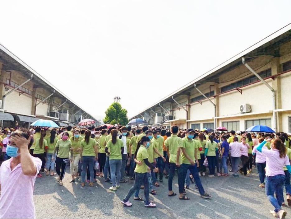 Hàngngàn công nhân ở Tiền Giang và Nam Định đình công đòi tăng lương