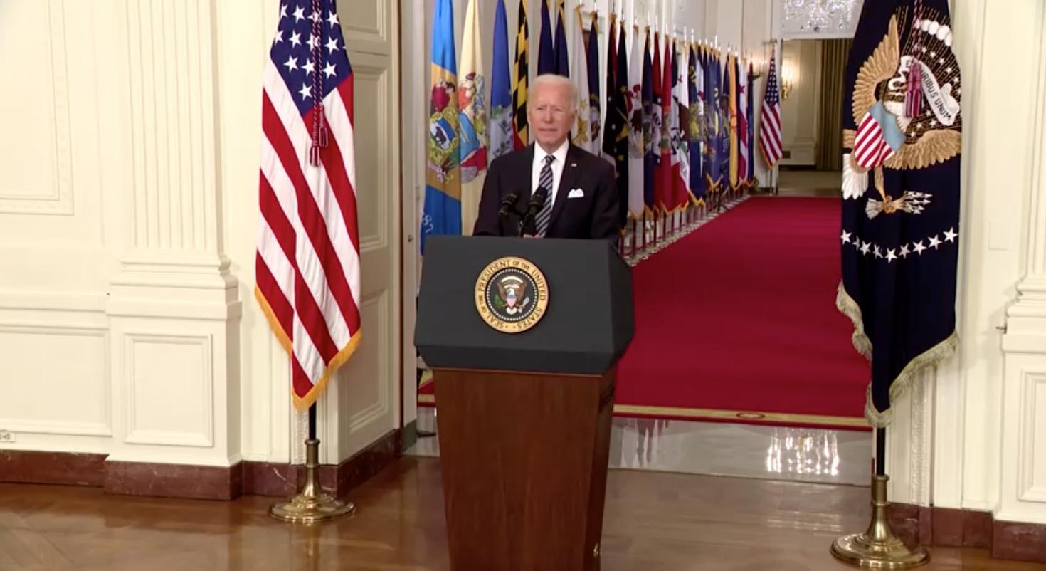 Tổng Thống Biden tiếp tục lên án nạn kỳ thị chủng tộc nhằm vào ngườiMỹgốc Á