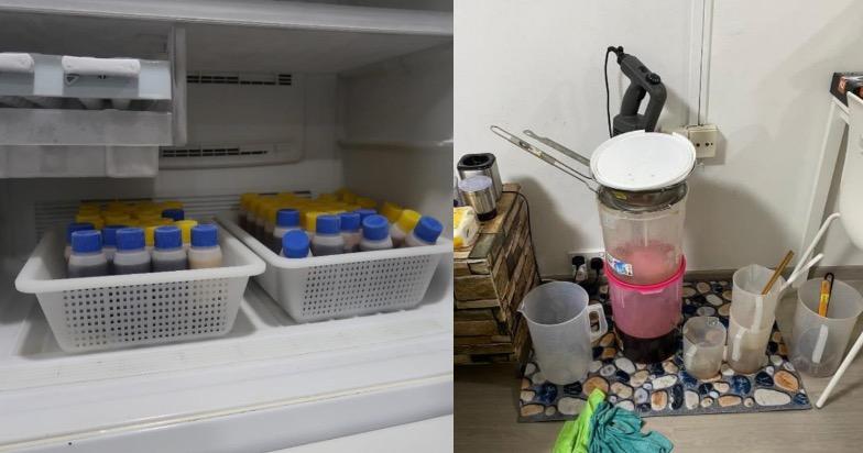 Căn nhà gần Beach Road bị tố cáo dùng để sản xuất và lưu trữ trái phép siro ho & thuốc bất hợp pháp