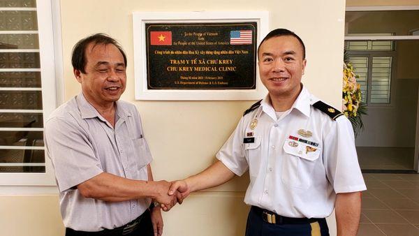 Bộ Quốc Phòng Hoa Kỳ tặng công trình trạm y tế trị giá 450,000 mỹ kim cho người dân Gia Lai