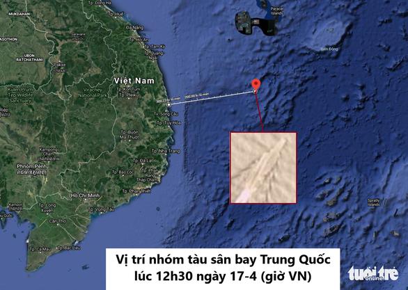 Hàng không mẫu hạm Trung Cộng tập trận ở biển đông cách bờ biển Quy Nhơn 300km