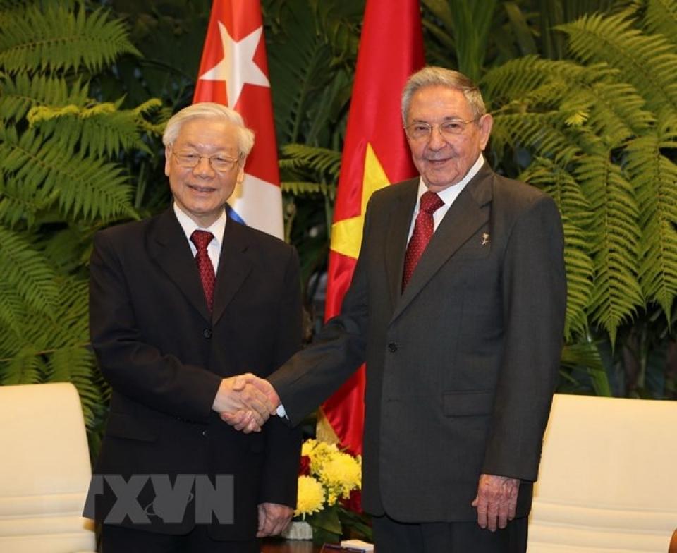 Nguyễn Phú Trọng viết thư khen ông Raul Castro không tái cử thể hiện tin tưởng các lãnh đạo mới của Cuba