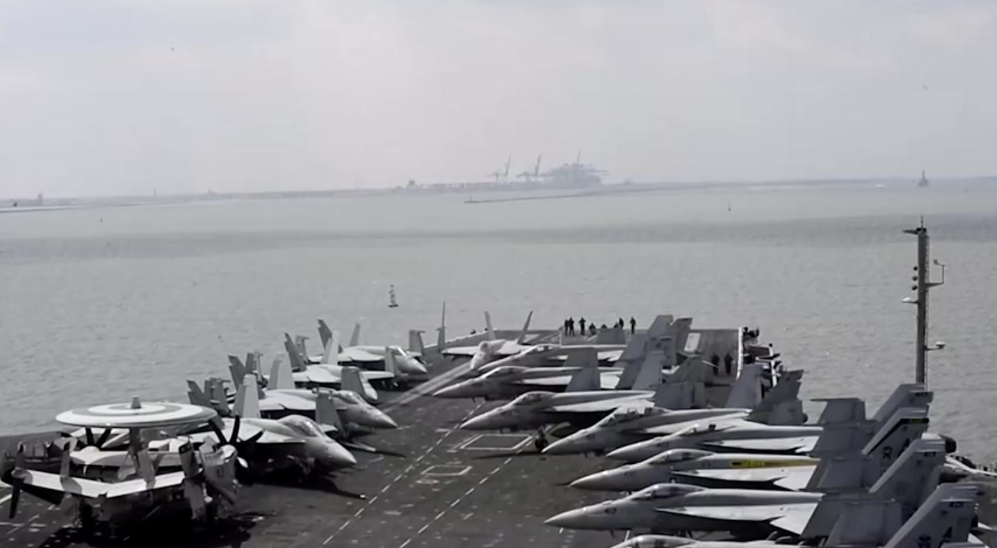 Hàng không mẫu hạm Hoa Kỳ lại vào biển Đông sau sự kiện bãi đá Ba Đầu
