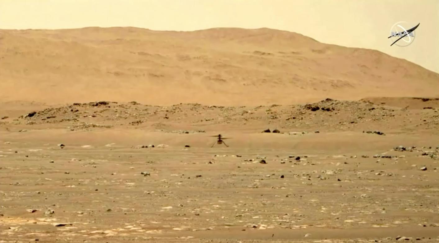 Trực thăng của NASA thực hiện chuyến bay đầu tiên trên Sao Hoả