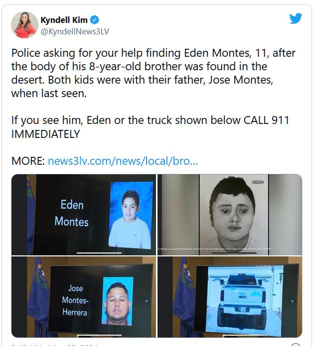 Vẫn chưa xác định được danh tính của cậu bé đã chết trên một con đường mòn gần Las Vegas
