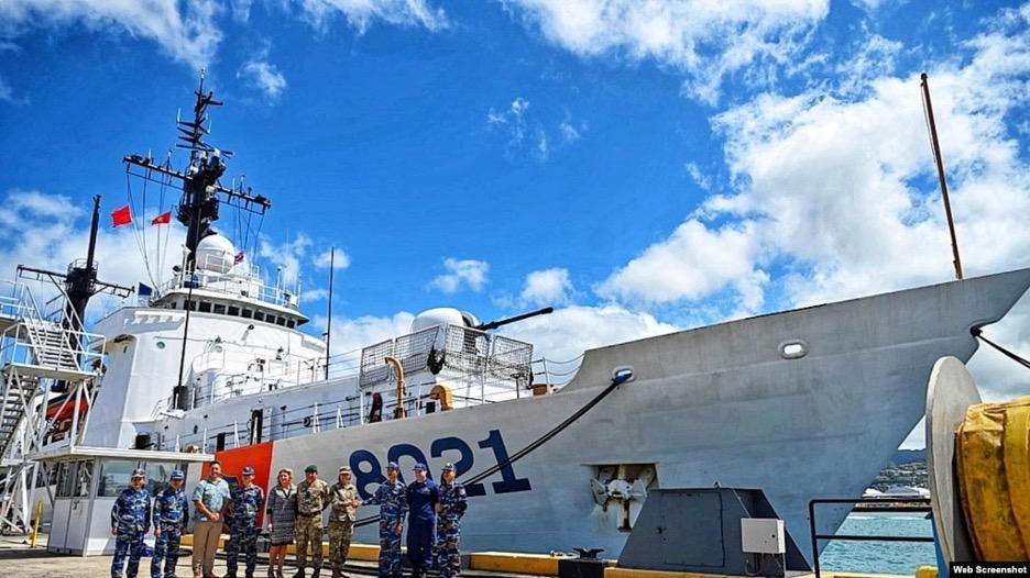 Tư lệnh quân đội Hoa Kỳ ở Ấn Độ Dương-Thái Bình Dương thăm tàu tuần duyênCSVN tại Hawaii